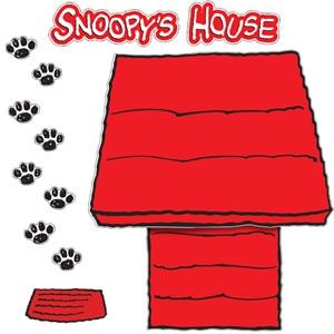 Snoopy's Dog House Bulletin Board Set - perfect for Halloween!