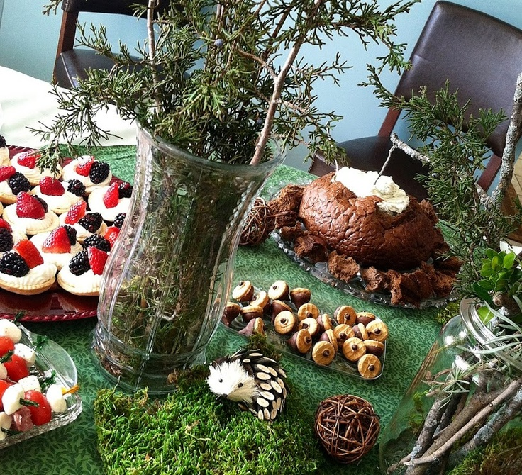 woodland themed baby shower meet the baby party pinterest