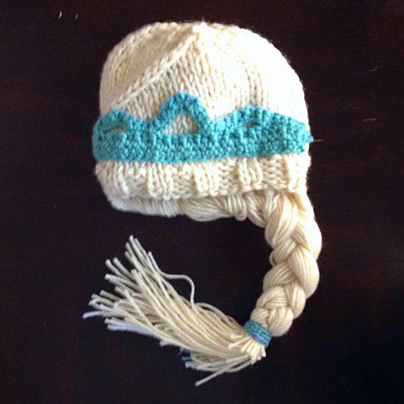 Knitting Pattern For Frozen Hat : Princess Elsa inspired knit hat