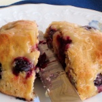 Lower calorie Blueberry Lemon Scones. Site also has other low cal desserts listed.