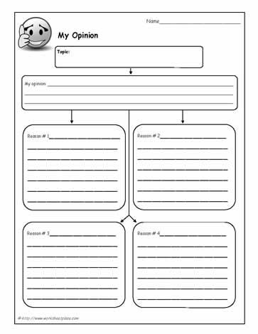 My opinion a great graphic organizer to support persuasive writing