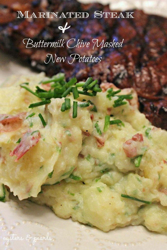 Skinny Buttermilk Mashed Potatoes With Chives Recipes — Dishmaps