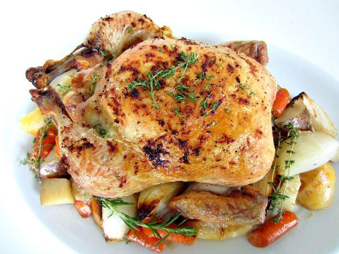 thomas keller roast chicken, ina garten roast chicken