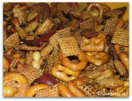 Kentucky Bourbon Bacon Chex Mix: 1 bag (15 oz) Chex Mix® traditional ...