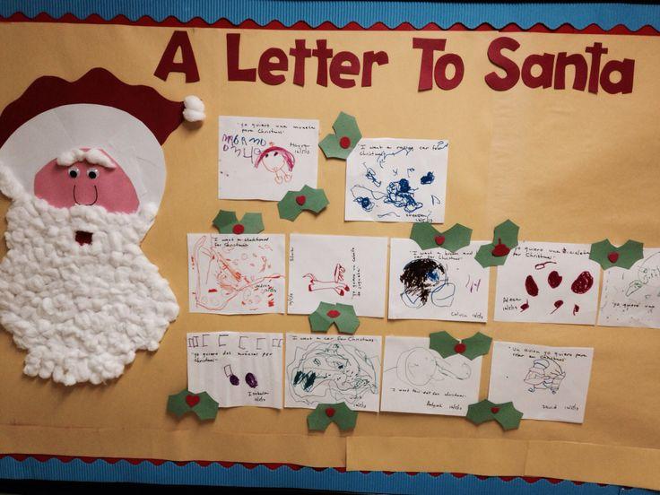 Letter to Santa | Bulletin Boards | Pinterest