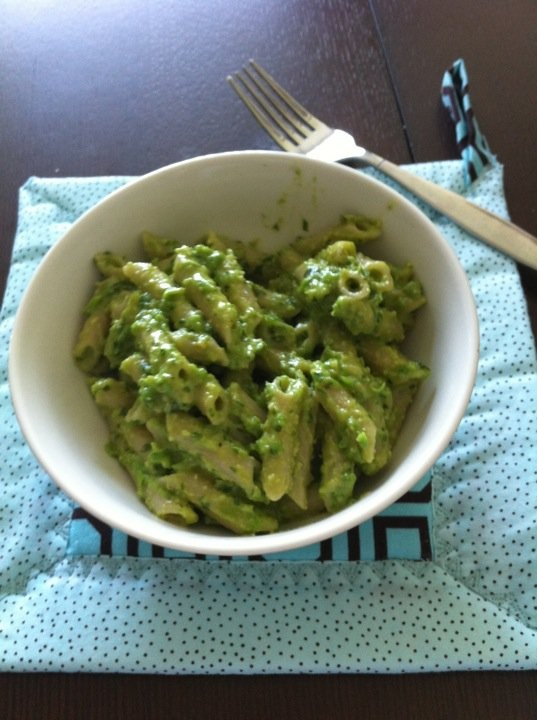 Pasta with Pea Pesto | yum* | Pinterest