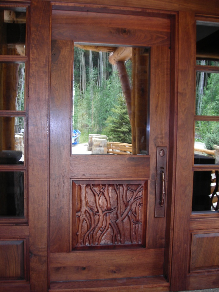 Custom wood entry door entry doors pinterest for Custom wood entry doors