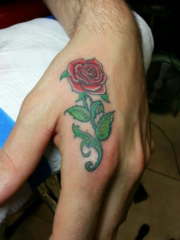 Beautiful Rose In Memory Of His Grandmother