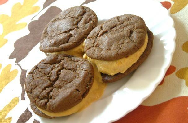 Ginger Cookie Pumpkin Ice Cream Sandwiches