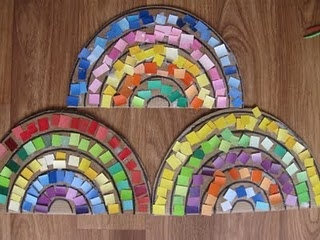 Rainbow Paint Chip Mosaic