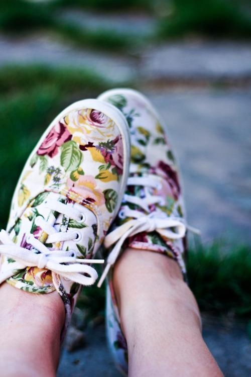 Floral keds. Well clearly I need these