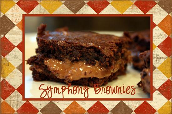 Symphony Brownies @yourhomebasedmom.com #brownies,#recipes