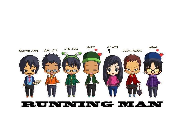 Cartoon of running man cute gt kdrama s pinterest