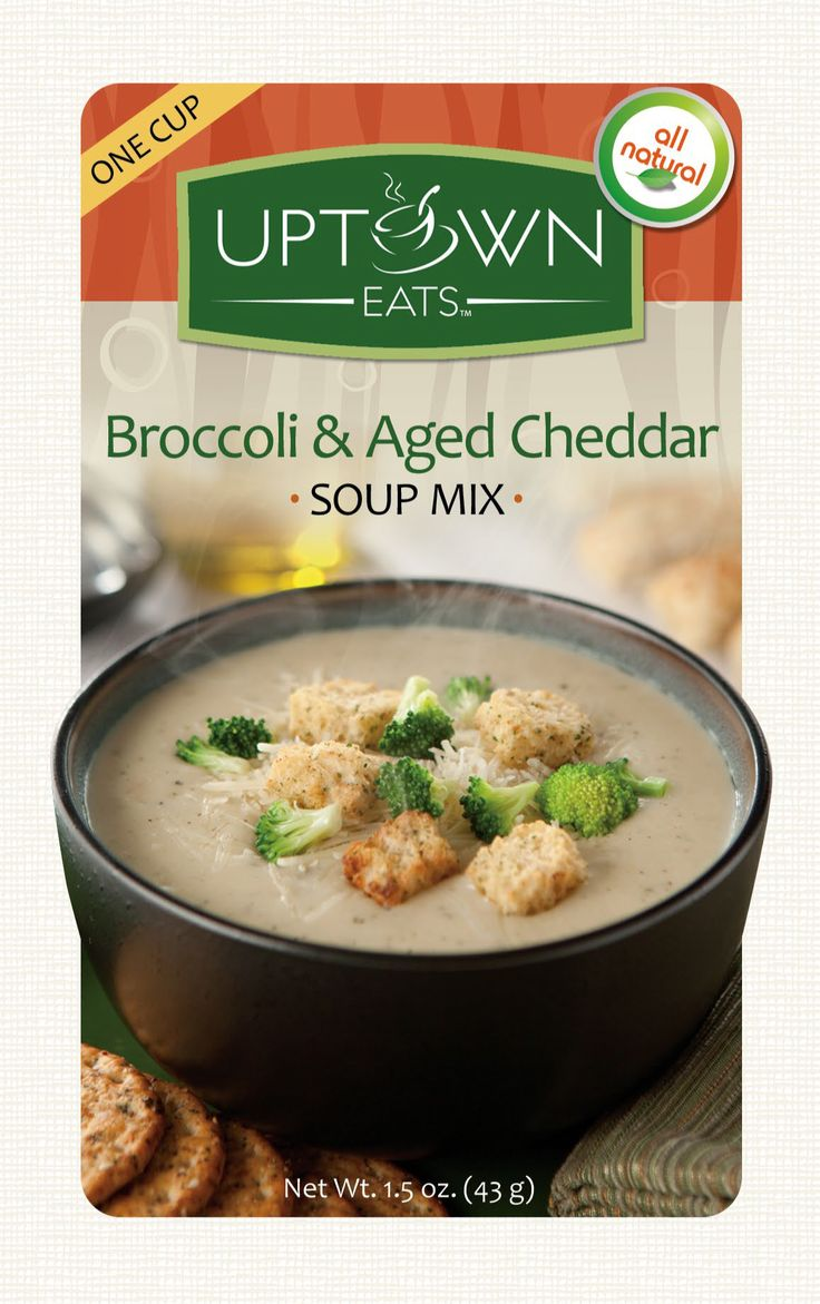 Uptown Eats All Natural Broccoli & Aged Cheddar Soup Mix. Comfort food ...