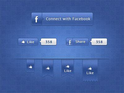 Alternative free Facebook elements #freebie #psd #webdesign