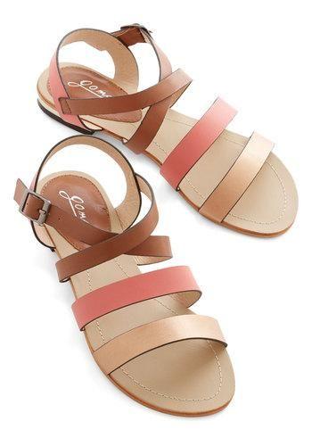 Walk Around the Colorblock Sandal