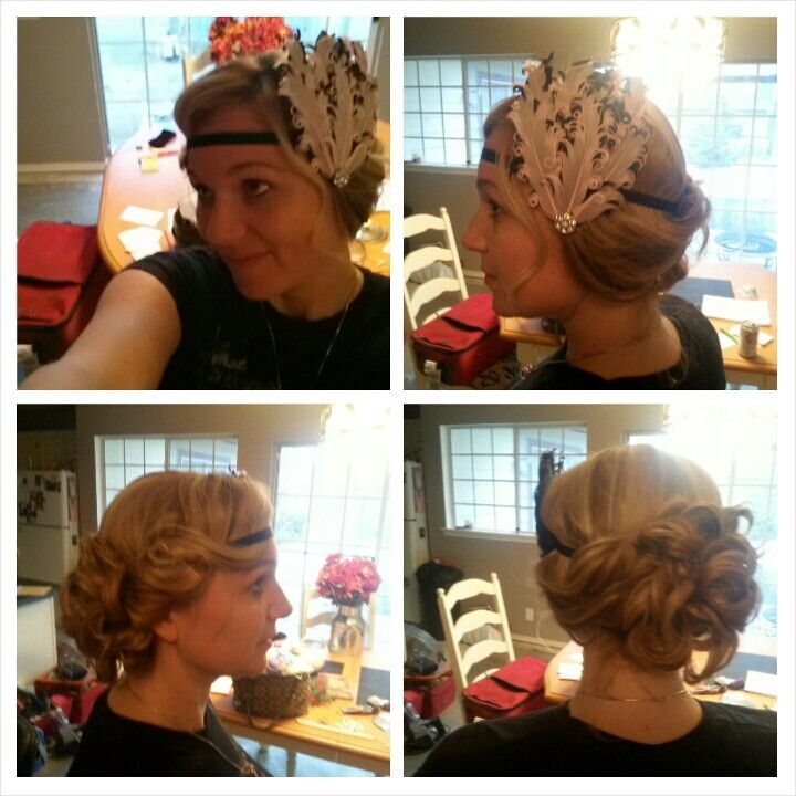 1920s Formal Hairstyles 1920's updo. andrea's formal