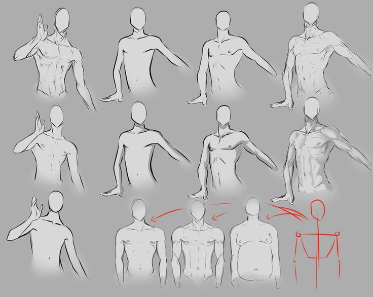 How to draw male body ...
