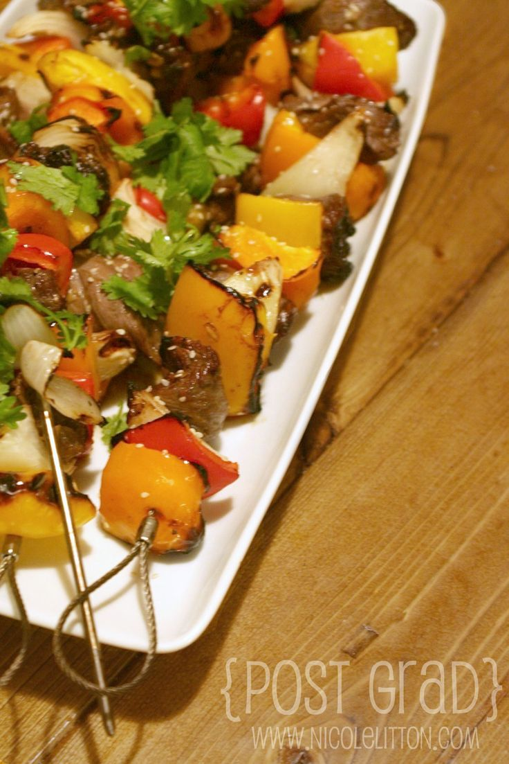 Asian Steak Kabobs | Post Grad | | Dinner | Pinterest