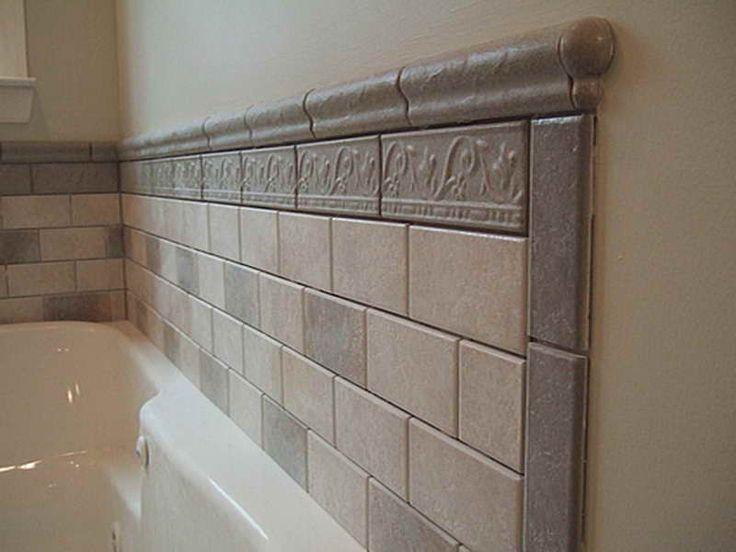 tile backsplash behind tub bathroom ideas pinterest