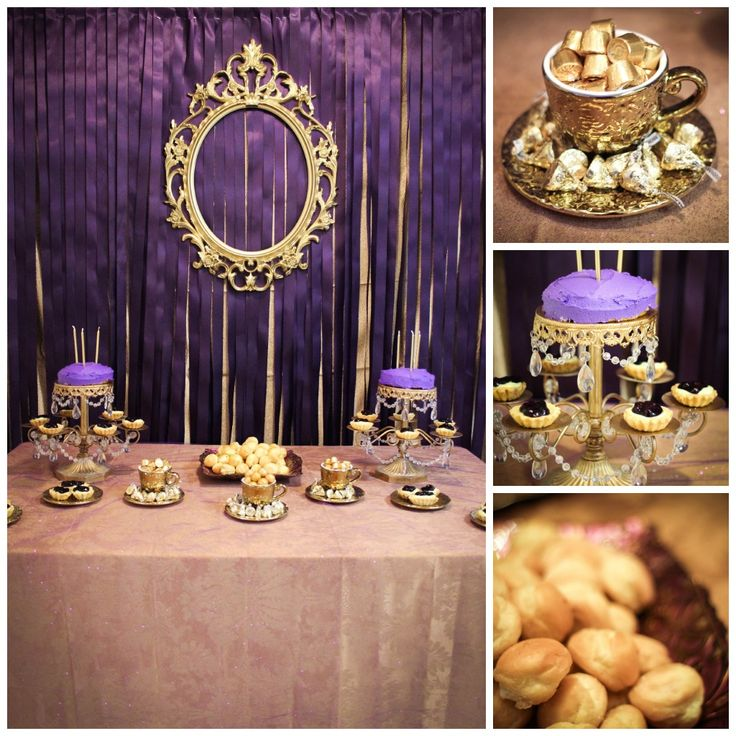 purple and gold royal princess party princess birthday party pint