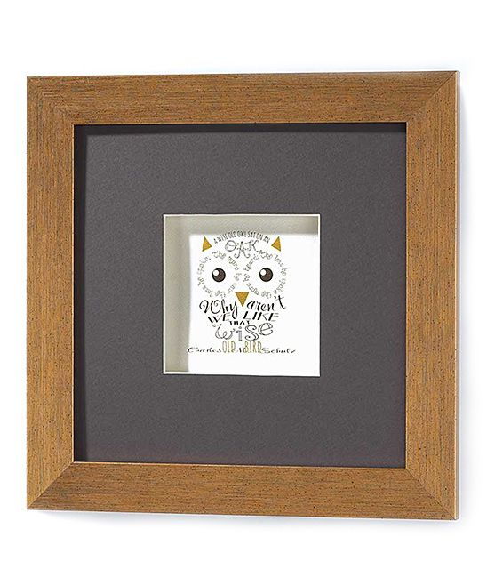 Wall Art Shadow Box : Owl shadow box wall art