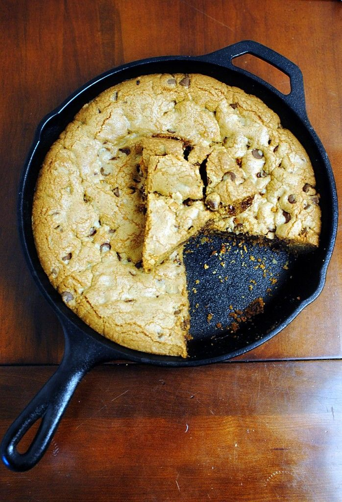 Skillet-Baked Chocolate Chip Cookie | Indulge | Pinterest