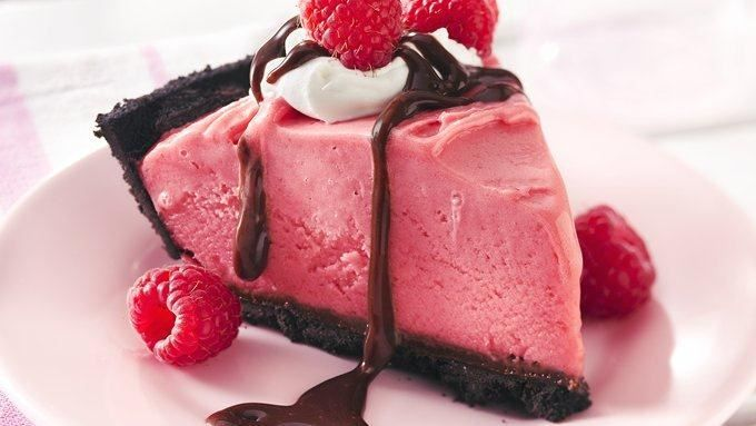 Frozen Chocolate-Raspberry Pie | rich hot fudge and a chocolate crust ...