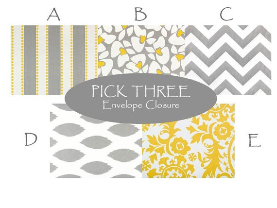 YELLOW and GRAY PILLOWS 16x16 Inches Set of 3 You by ThatsMyPillow, $ ...