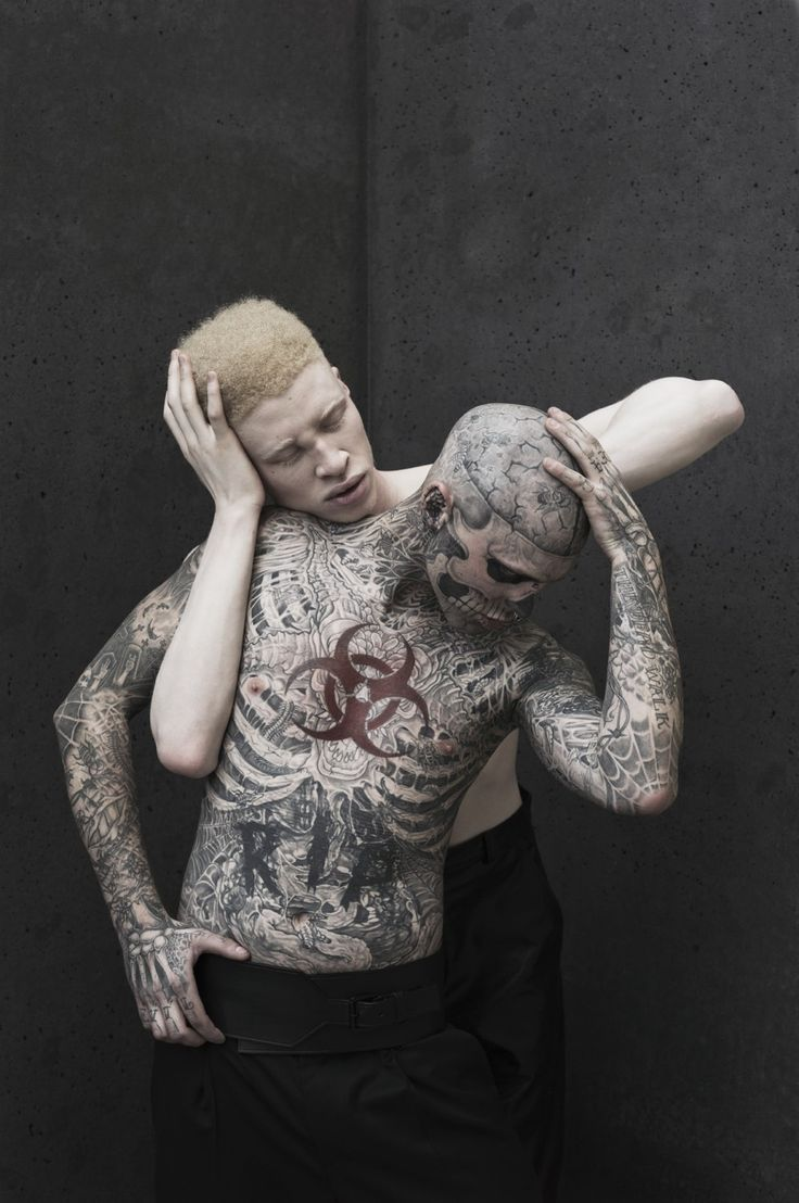 Rick genest shaun ross by joachim baldauf marvel homotography