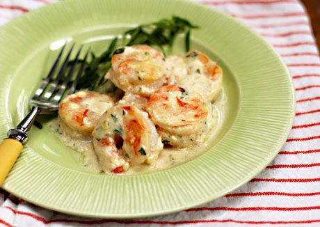 for shrimp with tarragon and yogurt sauce (Drooling over this shrimp ...