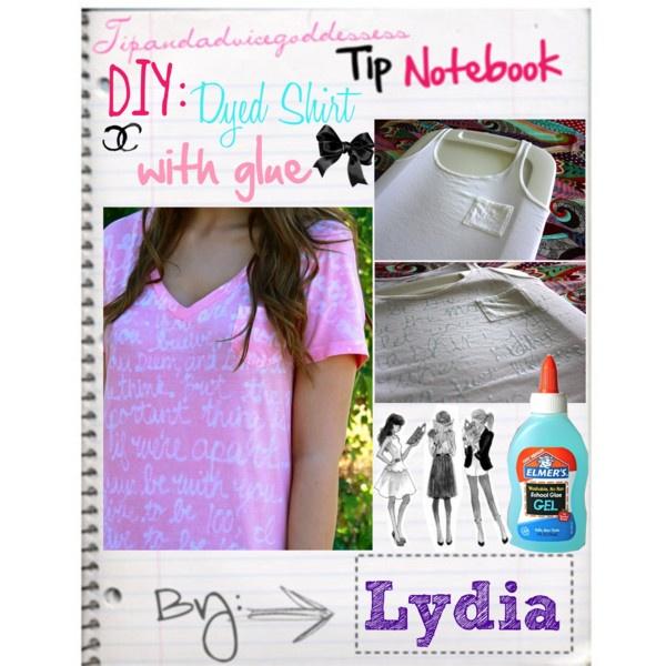 DIY: Dying Shirts w/ glue. camp idea?