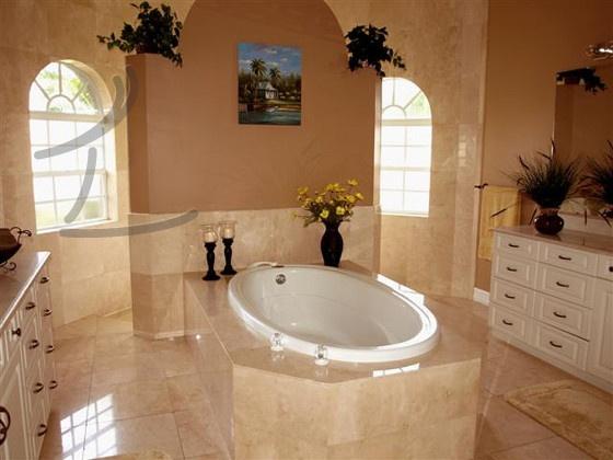 Walk Around Shower And Peninsula Tub Home Decor Ideas