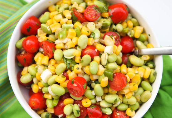 Edamame, Corn and Tomato Salad Subscribe by Email « Rhubarb ...