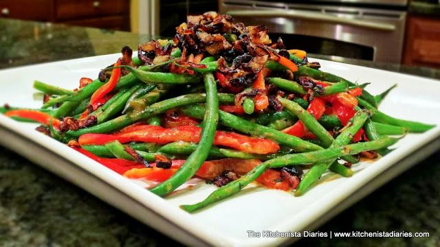 Riesling & Dijon Haricots Verts (Green Beans) with Crispy Shallots