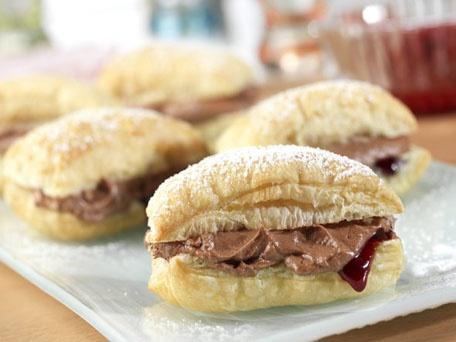 Chocolate Raspberry Mini-Napoleons | Desserts | Pinterest