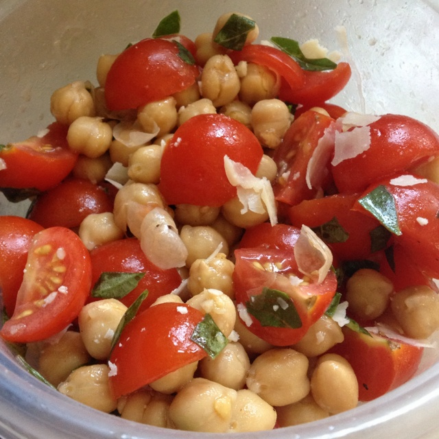 Skillet Corn, Edamame, And Tomatoes With Basil Oil Recipe — Dishmaps