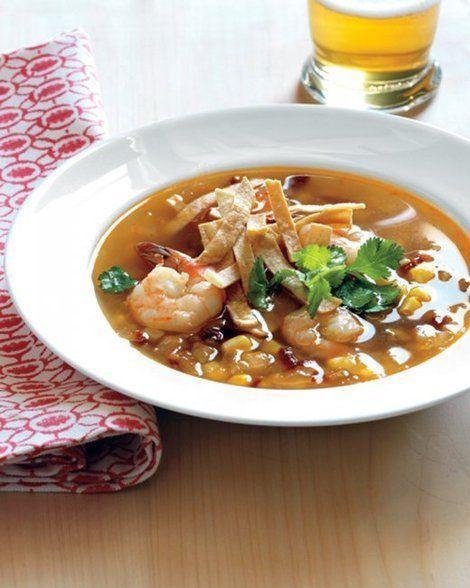 Shrimp + Corn + Tortillas = the Perfect Summer Soup!   Shine Food ...