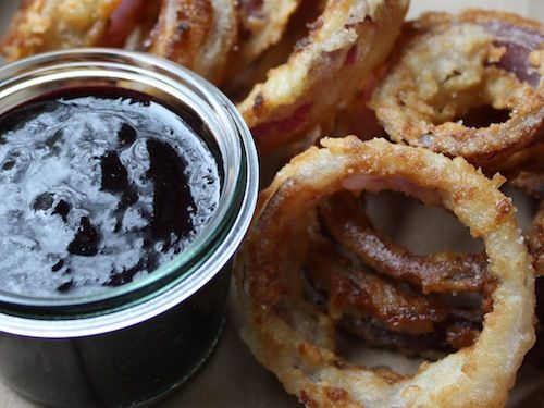 blueberry ketchup with onion rings recipe for blueberries meet their ...