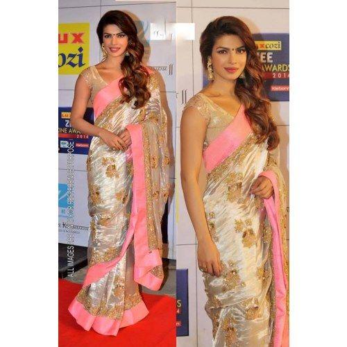 priyanka chopra wearing saree - photo #15
