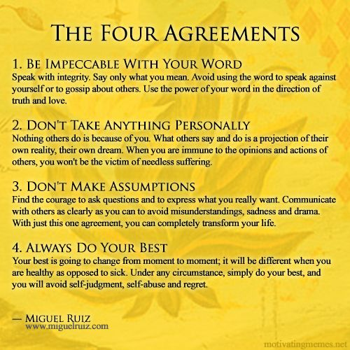 The Four Agreements Stuff To Think About
