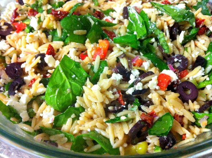 Greek Orzo & Spinach Salad from Nana's Tasty Traditions is a better ...
