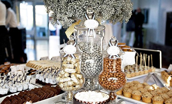New Years Chic Modern Dessert Party