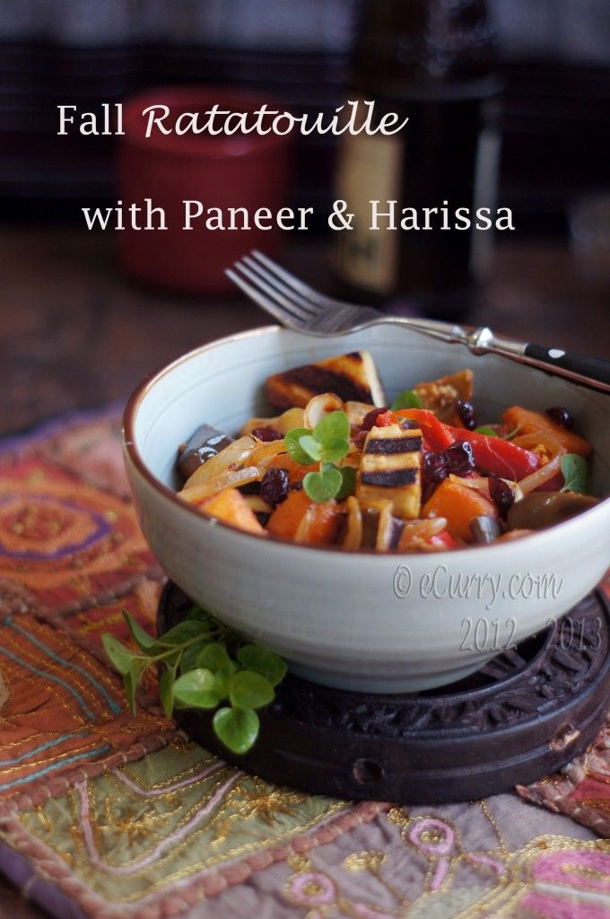 Fall Ratatouille with Paneer and Harissa | Who needs meat!?!?! | Pint ...