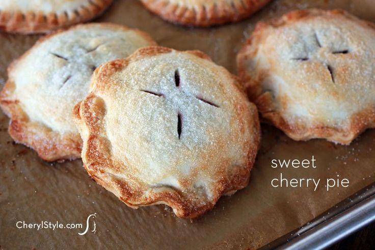 Sweet cherry hand pies recipe using premade pie crust