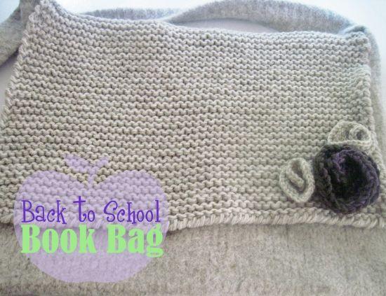 Crochet Book Bag : Book Bag