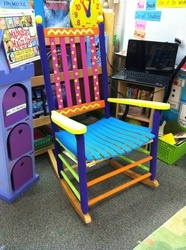Maybe use different colors but its a cute way to update a rocking chair!