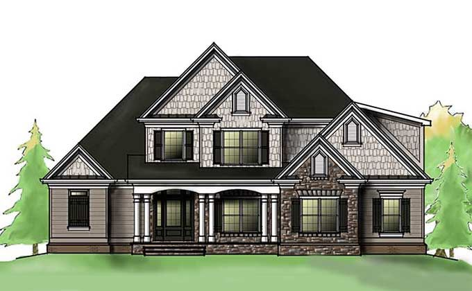 Southern house plan with front porch exterior house Home plans with porches southern