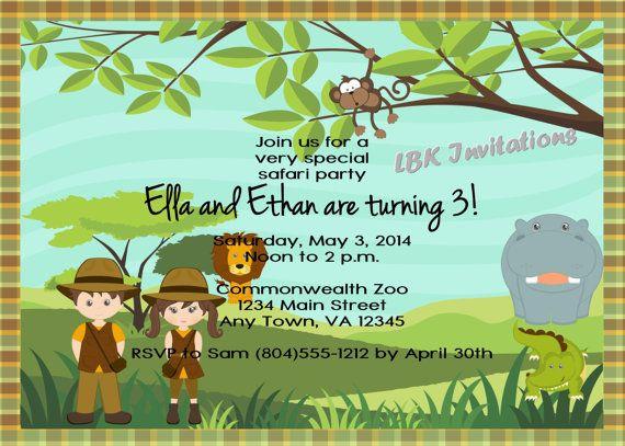 Zoo Birthday Invitations with nice invitations template