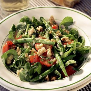 Warm Green Bean Salad with Toasted Walnuts | Recipe